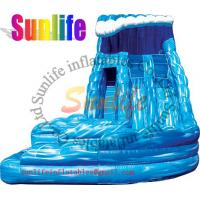 Quality inflatable exciting water pool giant slide for sale