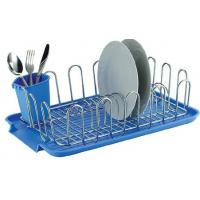 Buy cheap Item NO.DHW11001 Dish drying rack with plastic utensil holder and tray holder kitchen used for dish drying for cup from Wholesalers