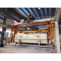 Quality Wheels Carrying L5000mm AAC Block Plant Side Plate-AAC Plant Cross Cutting Machine Full Automatic Concrete AAC Brick for sale