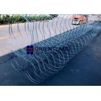 Quality Triple Strand Razor Wire Fence Wall Obstacles Pyramidal Type 10m Length for sale
