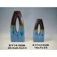 Quality Glazed Ceramic Vase for Home Decoration (D1-14102-A-B) for sale