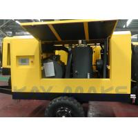 Quality 185 CFM Mobile Diesel Air Compressor , Tow Behind Air Compressor For Mining for sale