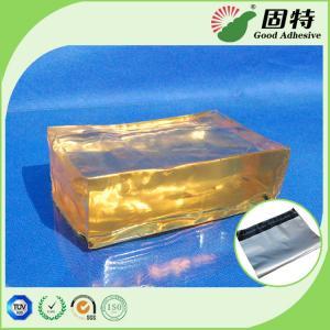 Quality Main ingredients SBS Yellow and transparent Block solid  Bag Repair PSA Hot Melt Adhesive Pressure Sensitive Based for sale