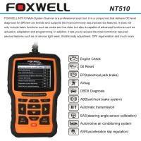 Quality FOXWELL NT510 OBDII Car Diagnostic Scan Tool , Multi-system Code Reader Scanner for sale