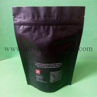 Quality Stand up Coffee Bag with zipper and one way valve (250 gram) for sale
