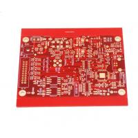 China Custom Made Multilayer PCB Board Electronic PCB Assembly Red Color on sale
