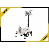 Buy cheap Diesel Powered Mobile Light Tower Length 4360mm 320° Mast Rotation Powder Coated from wholesalers