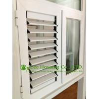 Quality louver blade shutter window / aluminum louver shutter design / Aluminum Casement Windows for sale