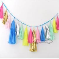 Quality Bright-coloured Colorful Paper Tassel Garland Birthday Party Garland for sale