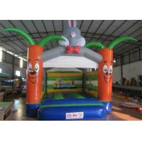China Bounce House With Slide 0.55mm Pvc Tarpaulin , Indoor Inflatable Bounce House on sale