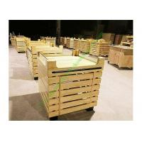 Buy Durable Supermarket Wooden Fruit Stand With Acrylic Guardrail On Top at wholesale prices