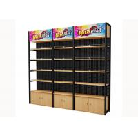 Buy Cold Rolled Steel Supermarket Shelving Wood Gondola Shelving Classic Style at wholesale prices