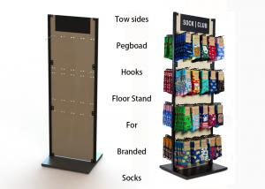 China Customized MDF Branded Display Stands Wood Floor Stands For Socks on sale