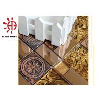 China HTY - TG 300 300*300 Wholesale Luxury Style Gold Color Glass Mosaic Tile Foshan Factory on sale