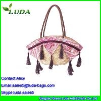 Quality Luda European Style Shoulder Wheat Straw Bags for LDWS-A099 for sale
