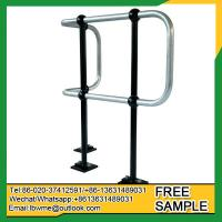 China Reading Ball tube handrail Steel balustrades ball joint stanchion railing for industry use on sale