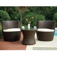 Quality Luxury Home Resin Wicker Obelisk Chair With Power Coated Aluminum Frame for sale