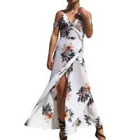 Quality 202111 Accept Sample Order 2018 Hot Deep V Neck Floral Prints Sexy Long Beach Dress for sale
