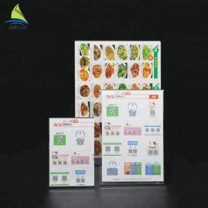 Customized Clear Acrylic Slanted Design menu holder acrylic Sign