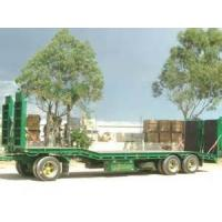 Quality 60T Cargo Semi Trailer Truck , Low Loader Semi Trailer With Air Suspension for sale