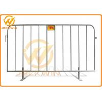 Quality Removable Portable Event Galvanized Steel Pedestrian Barriers with Flat Feet for sale