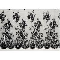 China french lace fabric/eyelash lace fabric/black lace/Swiss Voile Chantilly Lace on sale