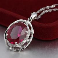 Quality Silver Pendant with CZ Stone for sale