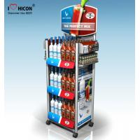 Quality Within Budget Solution Metal Display Racks On Wheels Freestanding For Retail Store for sale