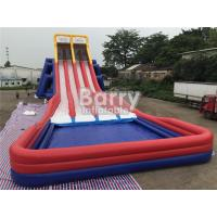 Buy cheap Four Lanes Giant Inflatable Slide / PVC Water Slide With Big Pool For Adults from wholesalers