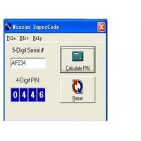 Quality Nissan Super Code Software, Nissan Pin Code Calculator For Programming Keys for sale