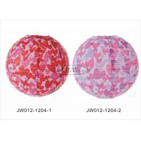 Quality Small Hearts Indoor Hanging Paper Lanterns Wedding Reception For Hotel for sale