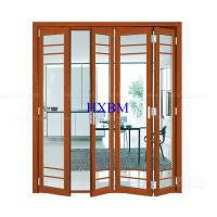 Quality Tempered Clear Glass Aluminum Folding Doors Flush Appearance Anti Aging for sale