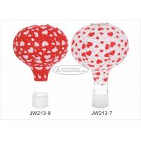 """Quality 12"""" 14"""" 16""""  Red Hot Air Balloon Paper Lantern Hearts Pattern For Event And Party for sale"""