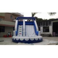 Quality Small Wavy Commercial Grade Inflatable Water Slide For Resident for sale