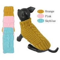 Quality Bulldog Pet Clothes Hand Knitted Winter Dog Coats For Whippet , Spinone Italiano for sale