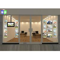 Quality Hanging A4 Crystal LED Light Box Poster Frame Travel Agency Window Displays for sale