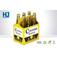 Quality 6 Bottles Cardboard Beer Box Corrugated Paper Material Carton Pop Up for sale