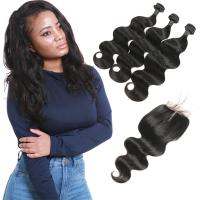 Buy 3 Bundles Brazilian Remy Virgin Hair Extensions Body Wave Customized Length at wholesale prices
