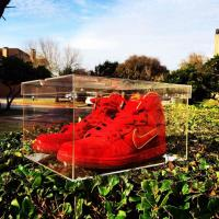 Buy cheap Promotional Large Acrylic Sneaker Display Box / Nike Acrylic Display Stands from wholesalers