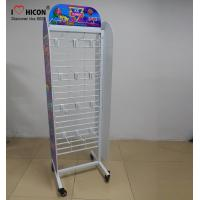 China Movable Retail Store Fixtures , Metal Candy Retail Shop Display Shelving on sale