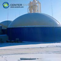 Quality Blue Bolted Steel Anaerobic Digester Tank For Biogas Production for sale