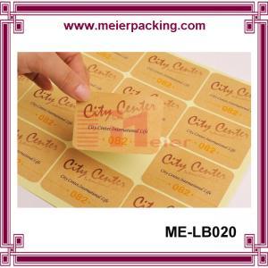 China Cheap price kraft paper printing custom sticker promotion in sheet on sale