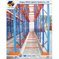 Quality High Density Warehouse Shuttle Pallet Racking with Durable Steel , Blue Red for sale