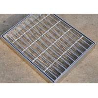 Quality Walkway Trench Drain Covers Stainless Steel 6mm Twist Steel Cross Bar for sale