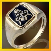 Quality comfort fit zircon stainless steel masonic ring for sale