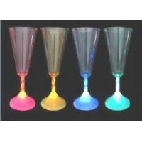China 300ml red led flashing wine champagne cups suitable for night bar on sale