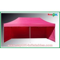 China L6m x W3m Gazebo Folding Tent Canopy Sun-resistant With 3 Sidewalls Iron Frames on sale