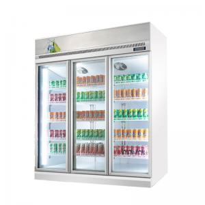 Quality Custom 1 2 3 4 Doors Supermarket Display Beer Milk Beverage Bottle Cooler for sale