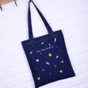 Quality custom High quality foldable shopping bag Environmentally friendly reusable shopping cloth bag Denim shopping bags for sale
