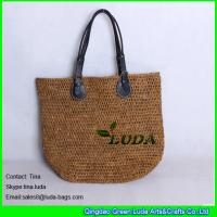 Quality high quality crochet straw totes natural raffia beach bag for sale